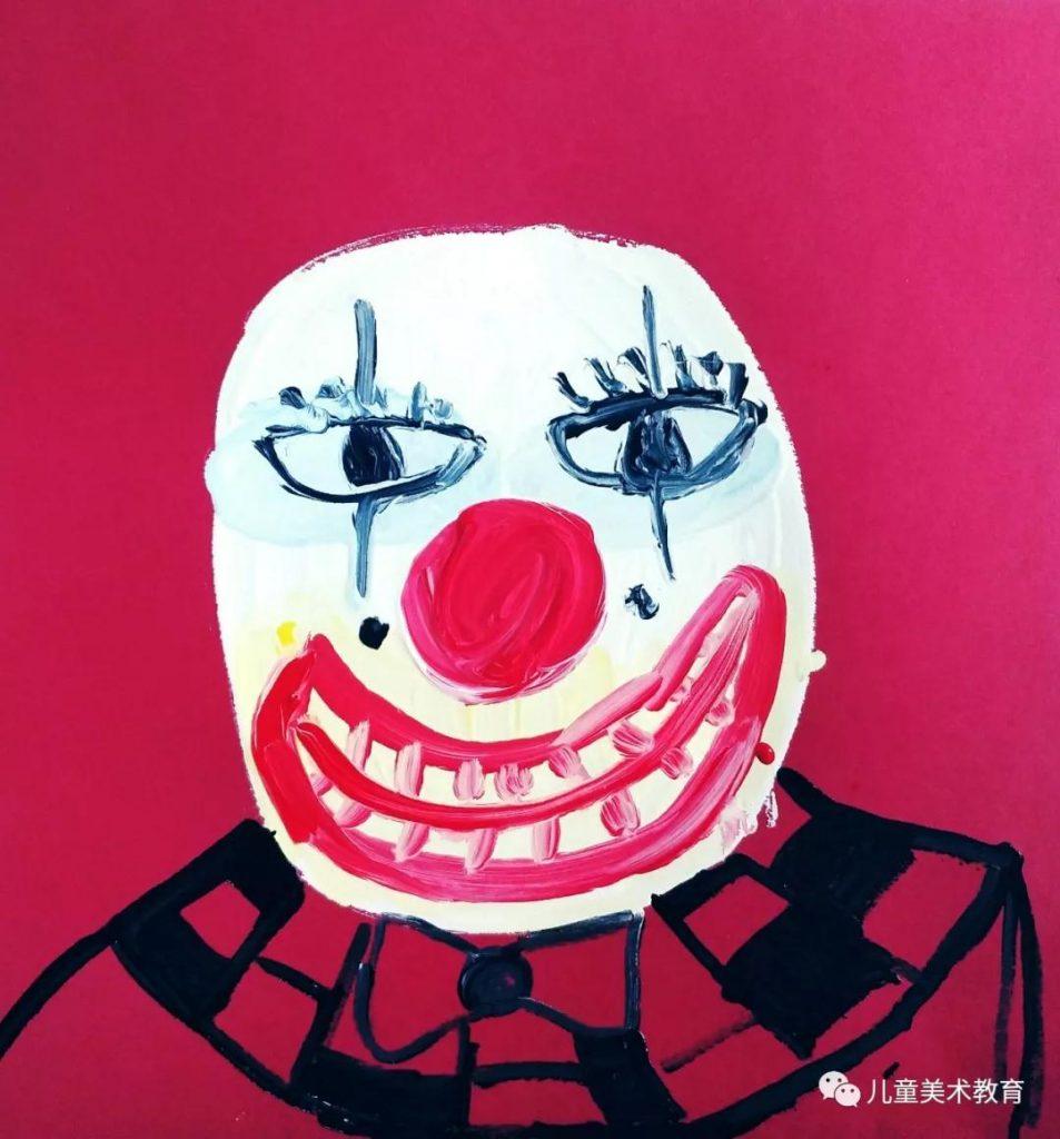 第五步:畫出小丑的衣服