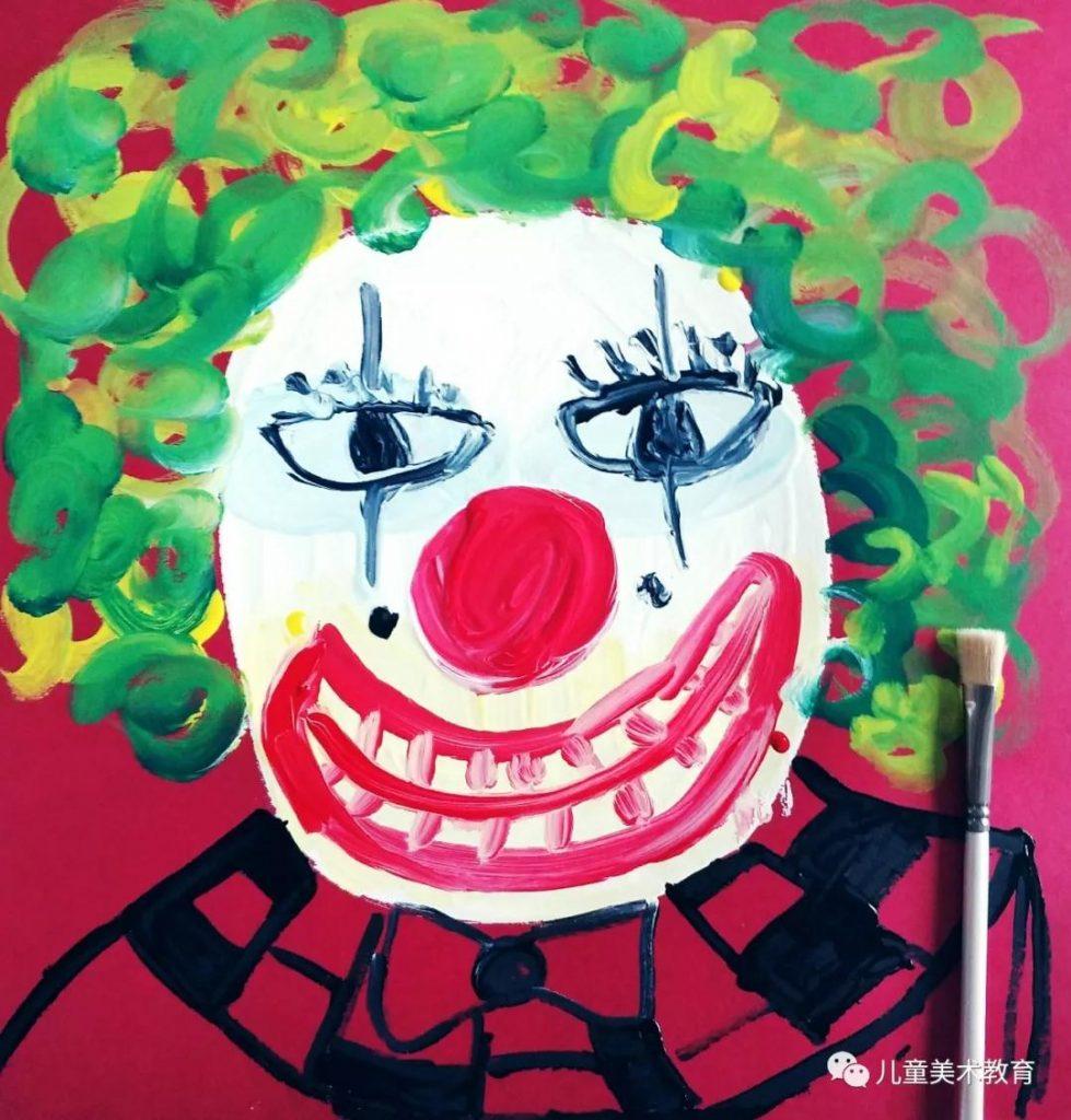 第六步:畫出小丑誇張的頭髮