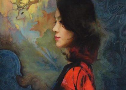 美女畫家,用高超精湛的技術,描繪畫出了絕美的人物!