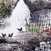 一幅幅的美麗畫作 國畫山水水墨畫