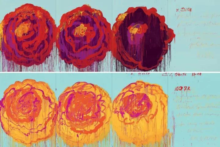 花卉靜物油畫