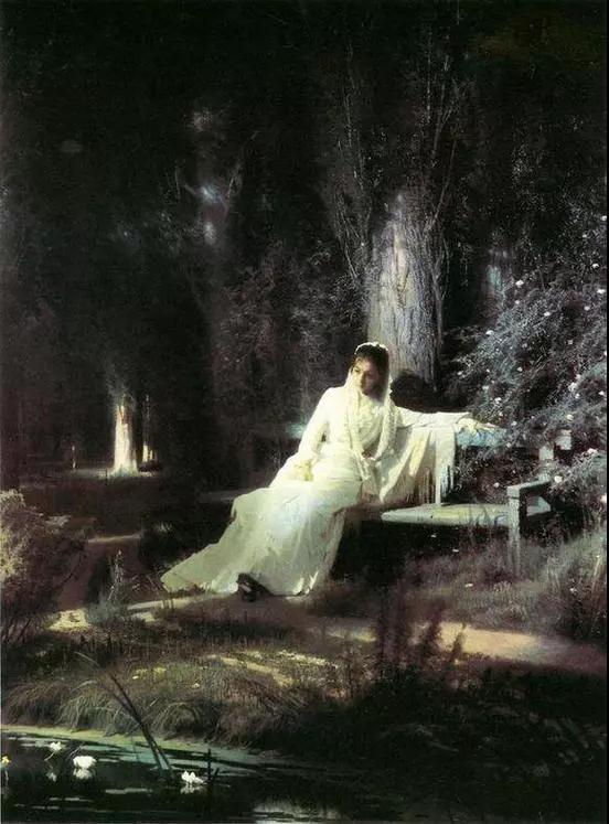 畫作名稱:《月夜少女》又譯《月夜》