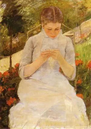 花園中的年輕女郎