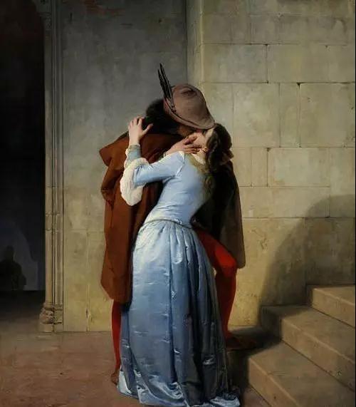 激吻 海耶兹 法国 布面油画