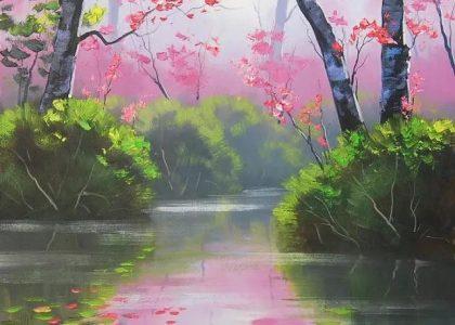 澳大利亞畫家畫風清新亮麗有種世外桃源的感覺