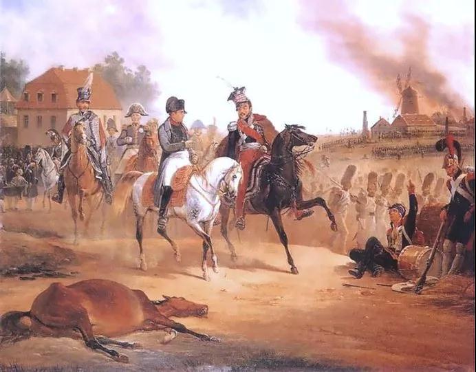拿破崙和約瑟夫·安東尼在萊比錫戰役