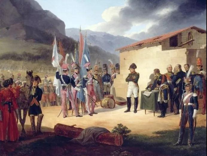 圖德拉戰役拿破崙收到捕獲的橫幅