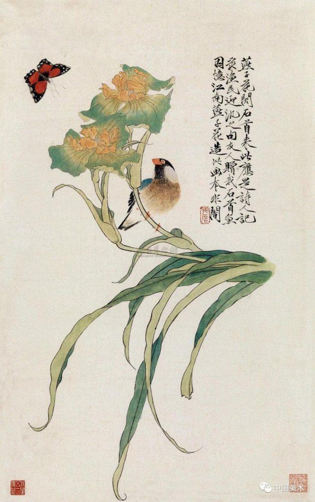 花鳥國畫圖