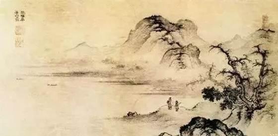 樊暉的《溪山遠眺圖》