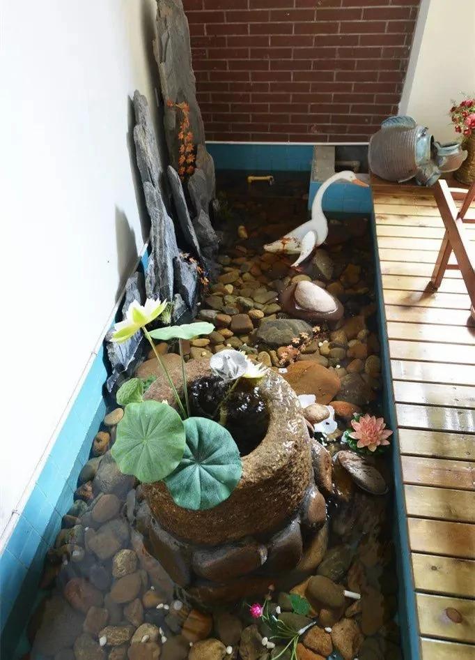 室內置池塘水