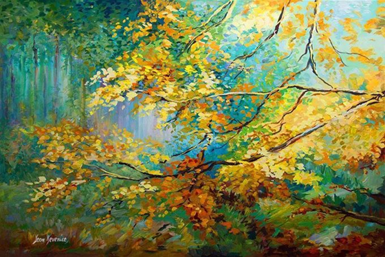 色彩豐富浪漫油畫
